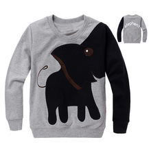 Free shipping,New Elephant, children sweater,boy girl Pullover top shirts Hooded Sweater hoodie