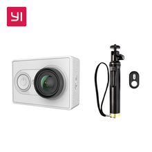 YI 1080P Action Camera White With Selfie Stick Bundle Mini Sport Camera High-Resolution WiFi and Bluetooth(China)