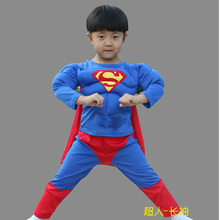 film hero Children 's Sets Clothing Batman superman Children 's Sets cotton superman Children's Sets Muscle cotton boy Sets