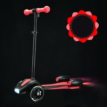 2017 New Design with Rocket Shape Push Flame Height Adjustable 3-18Y Children Tricycle Scooter