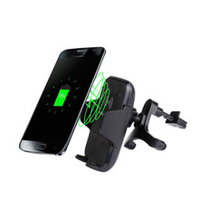 Hot ! Car Mount Wireless Charger Vehicle Dock Mobile Cell Phone Smartphone Charge Charging Dock for Iphone 8/8Plus For Samsung