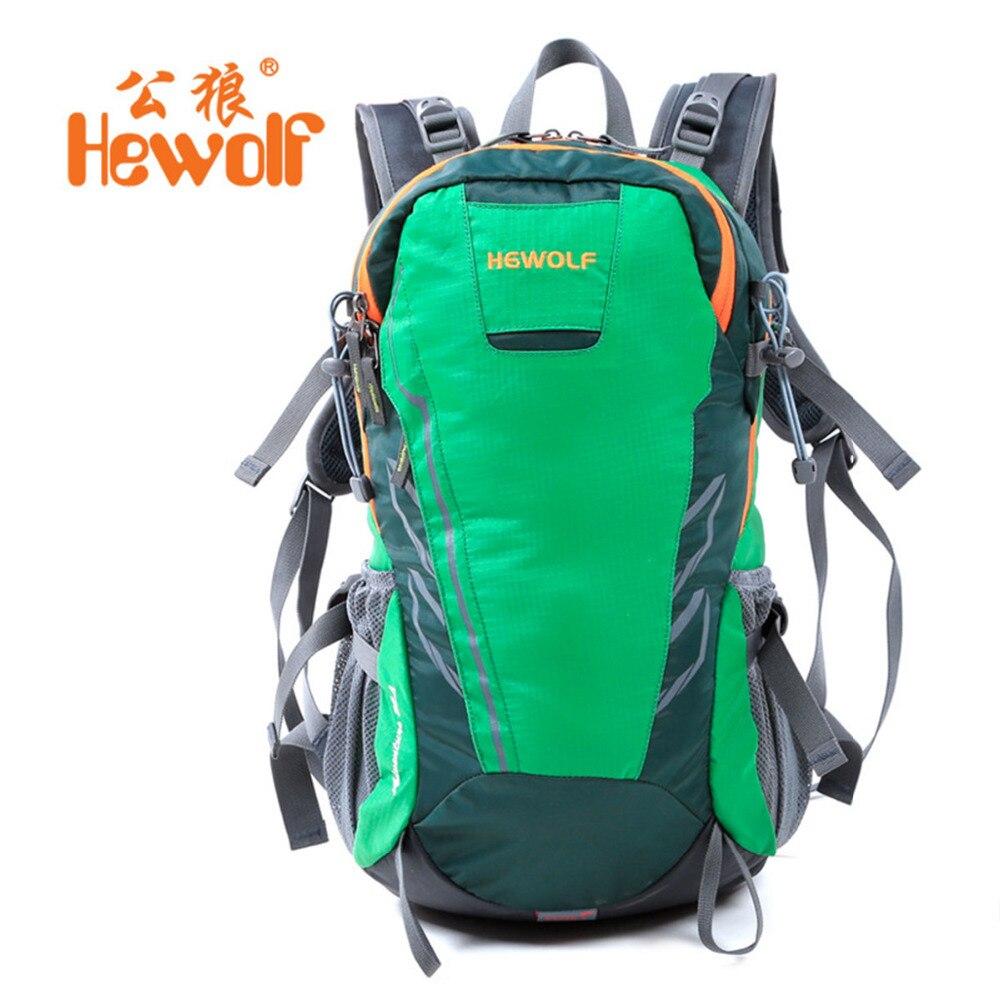 Hewolf 28L hiking backpack outdoor camping climbing traveling knapsack rucksack women men nylon waterproof shoulder bags 3colors<br>