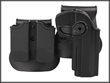 2016 Top Quality IMI DEFENSE Polymer Retention Roto Holsters and Double Magazine Holster Fits Beretta92/96/M9 All In One Holster