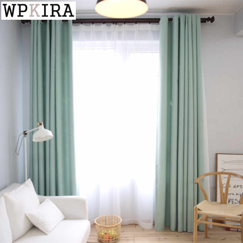 modern solid se-mi blackout cloth curtains for living room bedroom window curtains for window tulle curtains drapes S094&30