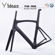 2017 700C Full Carbon Road Bike Frame Road Racing Bicycle Frame Light Weight full carbon fiber road frameset with BB(China)