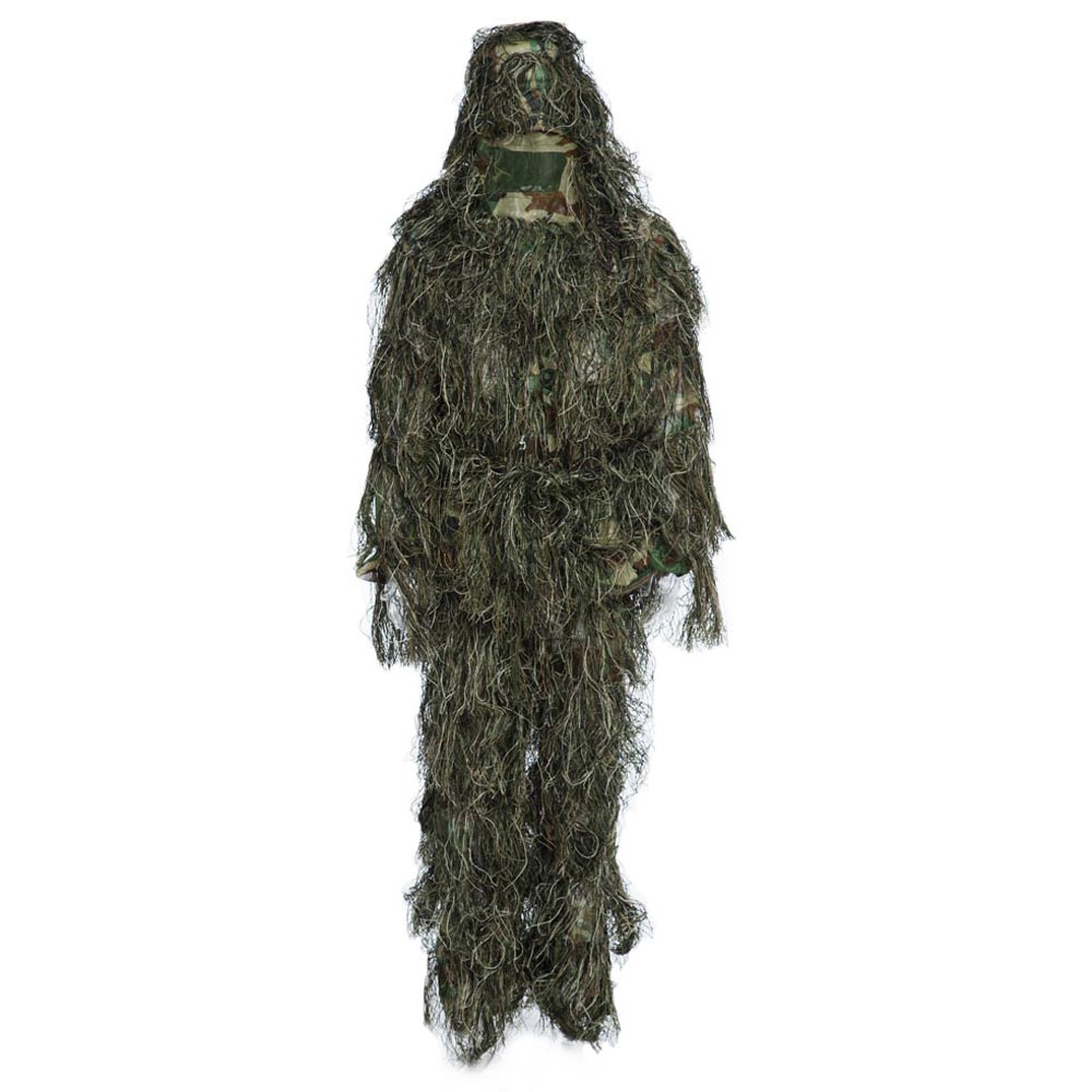 Ghillie Suit Hunting Woodland 3D Bionic Leaf Disguise Uniform CS Camouflage Suits Set Sniper Jungle Military Train Hunting Cloth<br><br>Aliexpress