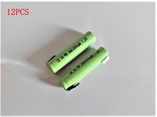 12PCS 1.2V AAA rechargeable battery 1000mah 3A10440 NiMH NiMH battery pins Braun electric shaver razor toothbrush