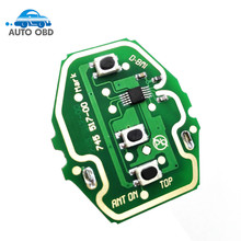 2pcs/lot New Keyless Entry EWS Remote Control Circuit Board 3 Button 315MHZ/433 for BMW E46 high quality free shipping(China)