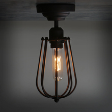 Village Loft Retro Ceiling Light Vintage grapefruit creative iron Spray Paint lamp shade Indoor Home Lighting Fixture with bulb(China)
