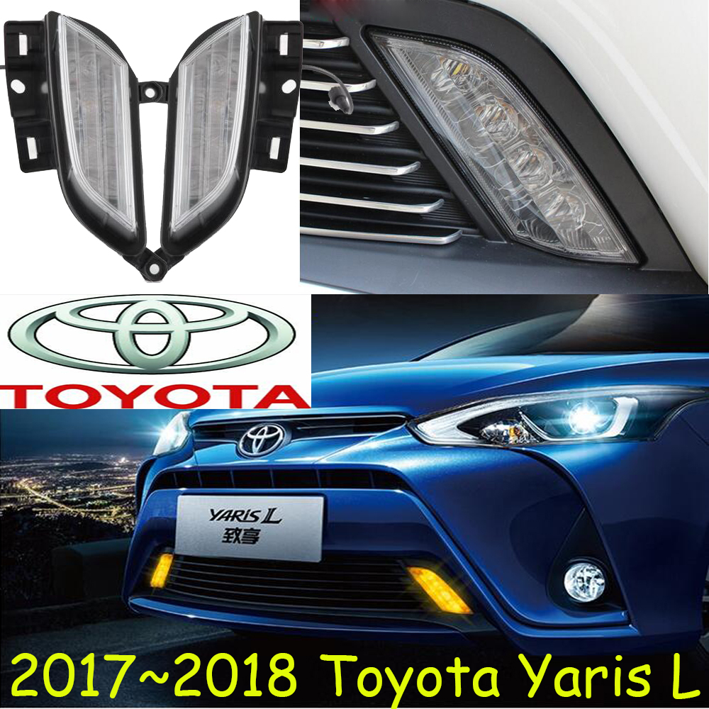 Car-styling,yaris day light,2017 2018year,LED,Free ship!car-detector,yaris fog light,car-covers,RAV4,Highlander,camry,yaris L<br>
