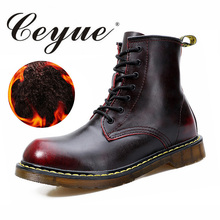 Ceyue New 2017 Dr Fashion Fur Ankle Male Boots Autumn Winter mens Motorcycle Boots men Boots Snow Boots Oxfords men Shoes 37-44