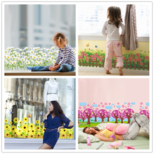 [SHIJUEHEZI] Baseboard Sticker PVC Material Wall  Vinyl DIY Flowers Home Decor for Kids Rooms Shop Glass Window Decoration