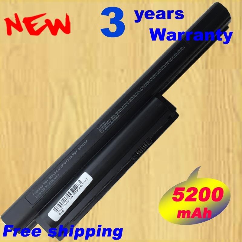 NO CD Laptop Battery 5200MAH For BPS26 V CA CB EG EH EJ EL VPCCA VPCCB VPCEG VPCEH VPCEJ VPCEL VGP-BPL26 VGP-BPS26 VGP-BPS26A<br>