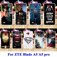 AKABEILA  Rubber Covers For ZTE Blade AF3 A3/ZTE Blade A5 A5 pro Cases AF 3 C341 T22  Bags Captain American Batman Shell