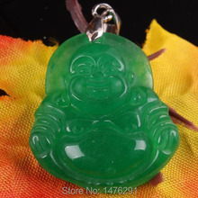 24X27MM Imitation Green Jades Buddha Bead Pendant 1PCS