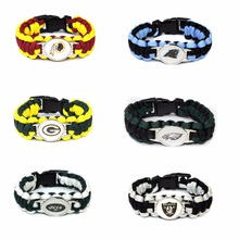 Football Team Packers Panthers Raiders Eagles jets Redskins Paracord Survival Friendship Outdoor Camping Sports Bracelet(China)