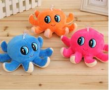 Plush  octopus Small Pendant Marine Animals Model Soft Baby toys Lovely simulation gift 18 cm