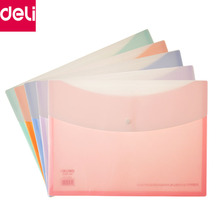 Deli 5pcs/Pack A4 Size File Folder Organ Bag A4 Organizer Paper Holder Document Folder Office School Supplies(China)