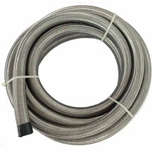 evil energy-5M AN8 Stainless Steel Oil Fuel Hose Double Braided Fuel Hose Line Oil Cooler Adapter Kit Silver Hose