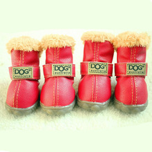 Fashion Autumn and Winter Snow Boots Casual Dog Shoes Pet Slip-resistant Waterproof Shoes Teddy Dog Shoes