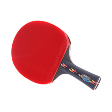 Best Quality Wood Bat Handle Table Tennis Rackets Red Rubbers Pingpong Paddle Short Holder Straight Grip Offensive Racket(China)