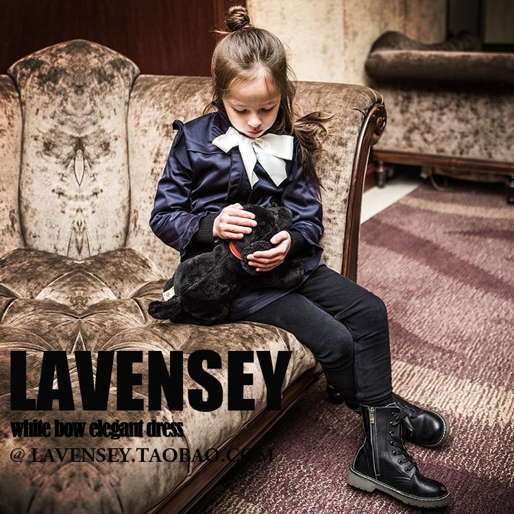 Lavensey 2016 Luxury Autumn &amp;  Winter Kids Dress Creamy White Color Girl Dresses Warm Children Dress Long Sleeve Child Clothing<br>