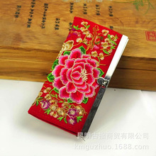 Embroidered National Package Ladies Wallets Wallet Hand Embroidery Coin Purse Purse Buy 3 Pieces Wholesale Support Drop Shipping(China)