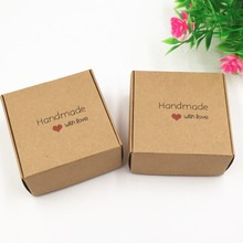 new 500pcs/lot brown kraft Paper Box for Handmade Soap Jewel Wedding Birthday Party Favor Gift Candy Package Boxes
