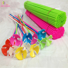100pcs/LOT High Quality 40cm Latex Balloon Stick Colorful PVC Rods For Supplies Balloons Wedding Balloon Decoration Accessories(China)