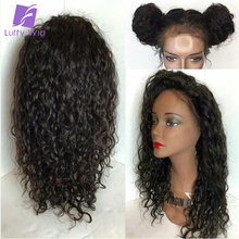 Luffy 5x4.5 Human Hair Full Lace Silk Base Wigs With Baby Hair Indian Silk Top Lace Front Human Hair Curly Wigs For Black Women