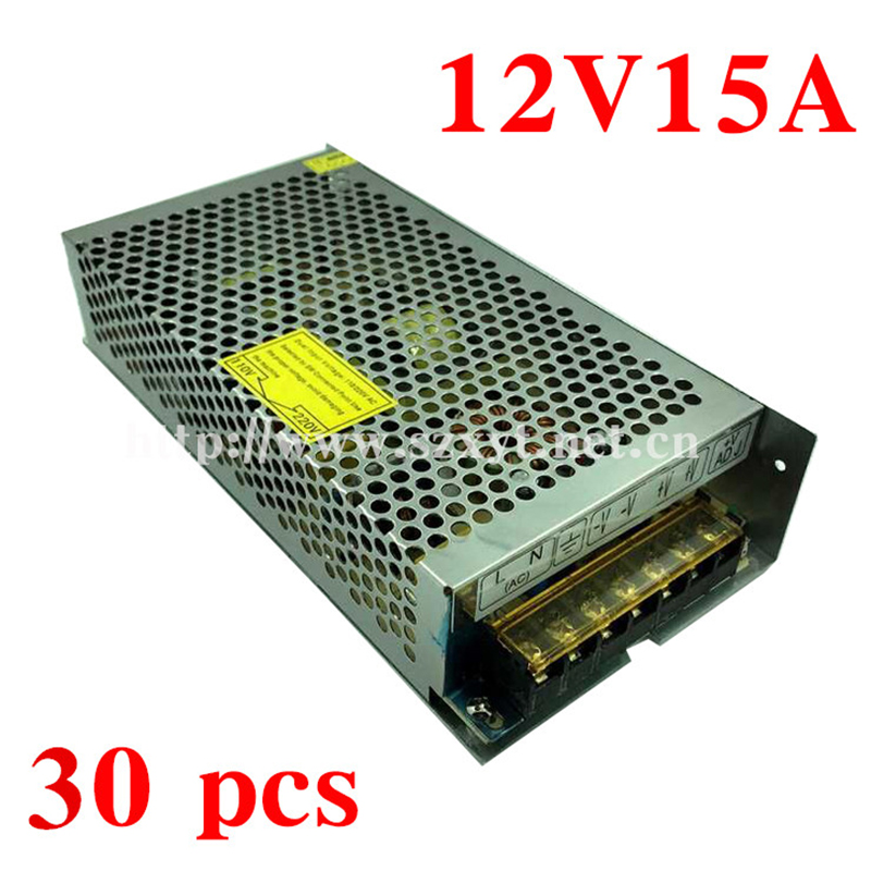 30pcs 12V15A 180W Switching Power Supply for LED Strip 180W Transformer Power Driver For LED strip AC110/220V to DC12V<br><br>Aliexpress