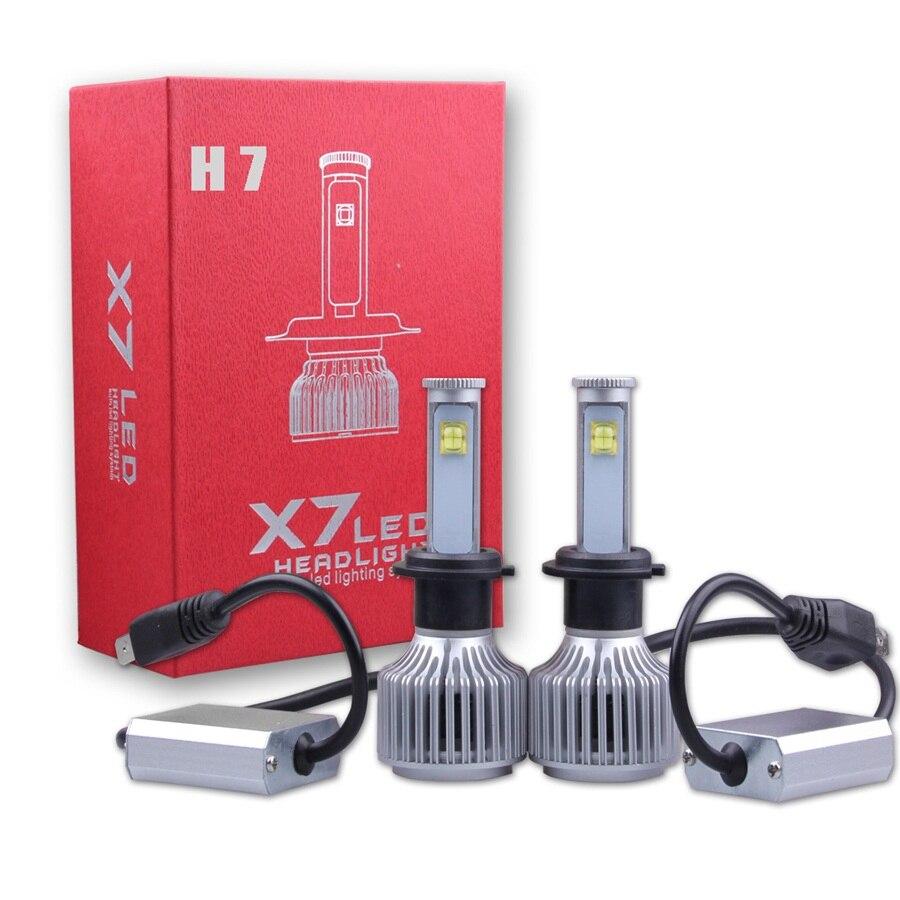 Plug&amp;Play LED H7 Car Headlight 80W 7200LM 2PCS Car Styling Automotive Bulbs 6000K White 9V-36V Auto Conversion Kit Fog Lamp<br><br>Aliexpress