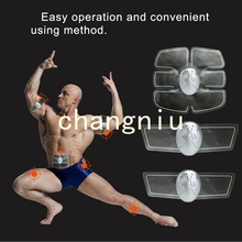ABS Fit gym form duo pads for EMS/tens units abdominal and  Arm muscles intensive training Slimming Massager