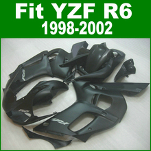 For YAMAHA R6 98 - 02 Abs Fairing kit ( All matte black ) free sticker customize Fairings ll14