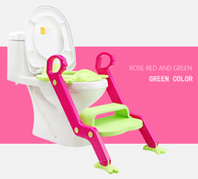 2016 hot selling cute frog foldable ladder potty for baby plastic toilet seat with step and stairs