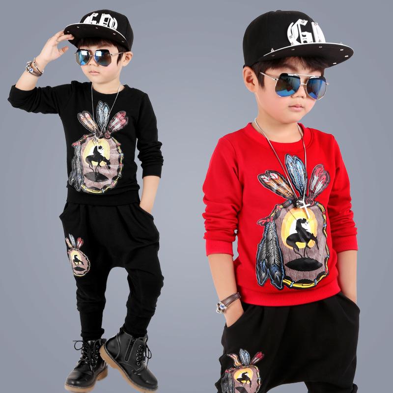 Baby boys clothing sets boys clothes harem pants two piece boys sport suit children clothing sets cotton kids clothes tracksuit<br><br>Aliexpress