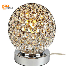 hot sales modern chrome crystal table lamp lustres de cristal bedroom light(China)