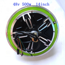 "14"" brushless hub motor 48V 500W with reflect ring/ powerful wheel hub motor G-M024(China)"