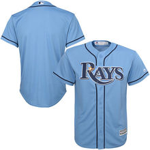 MLB Youth Tampa Bay Rays Baseball White Home Cool Base Jersey(China)