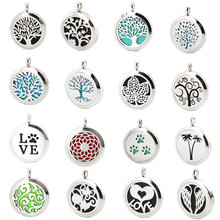 More than 100 style  Magnet  Aromatherapy Essential Oil 316 Stainless Steel Perfume Diffuser Locket Necklace with chain