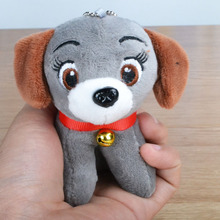 Fashion Cute 3D Dog Plush Dolls Animal Pendant Toy Key Ring Ball Chain Woman Bag Charms PomPom Car Keychain Party Trinket Gifts(China)