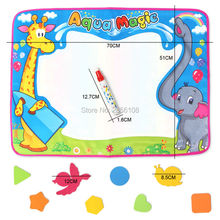 72x52cm Kids Water Drawing Painting Writing Toys Doodle aqua magnetic drawing board Magic Pens with 8Pcs model Educational Toys