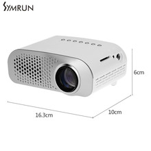 Symrun Dual HDMI TV LED Mini Projector Full HD 800 x 480 Pixels 0.9 - 6M Home TV Media Player Portable Home Theater Proyector