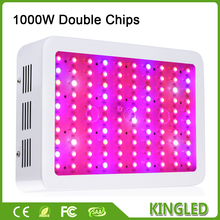 1 pcs 1000W LED Grow Light Double Chips Full Spectrum LED Lamp for Indoor Garden Growing Plants Aquarium Greenhouse Hydroponic