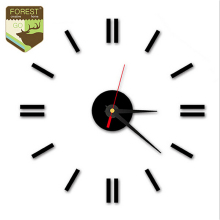 New DIY Quartz Wall Clock Self Decal Modern Wall Clock Digit Number Room Decoration Art 3D Acrylic Designs Clock Art Watch Wall