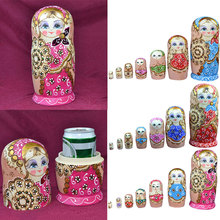 7pcs/ set Popular Russian Matryoshka Dolls Colorful Nesting Doll Wooden Crafts Child Kid Birthday Gifts Home Decor  88 M