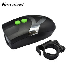 Westing Biking Waterproof Super Bright Bike Light 3 LED Horn Flash Torchlight Bike Electronic Bell Cycling Front Head Light Lamp(China)
