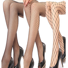 New Fashion Lattice Fishnet Pantyhose Stock Women's Lady Girls Sexy Thin Stockings Mesh Nylon Tights Long Punk Hot 208-003(China)