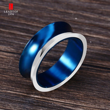 Factory Stainless Steel Girls Best Friends Small Blue Minimalist Wish Ring For Children Caved Love Hope Peace