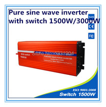 1500W pure sine wave inverter DC24V to AC220V inverter,solar power inverter with auto transfer switch,car inverter